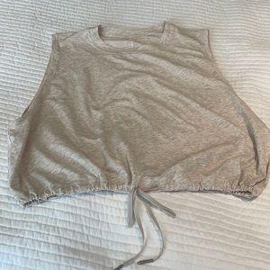 Lululemon crop top with tie front